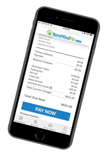 Collect rent from your smart phone