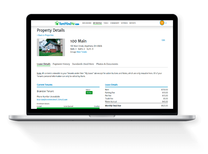 Management of rental properties made easy