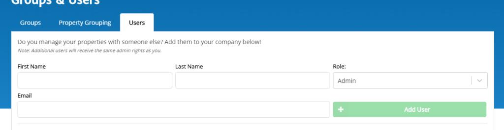 Data needed to add a user to RentMindMe.com